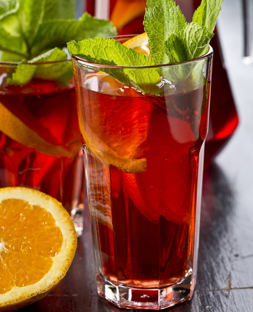 Citrus Basil Spiked Sweet Tea.