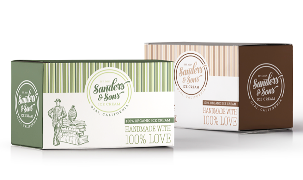 A vintage-themed package, one of the hot packaging trends in 2019. Vintage design allows a consumer to feel they've collected something rather than just making a purchase.