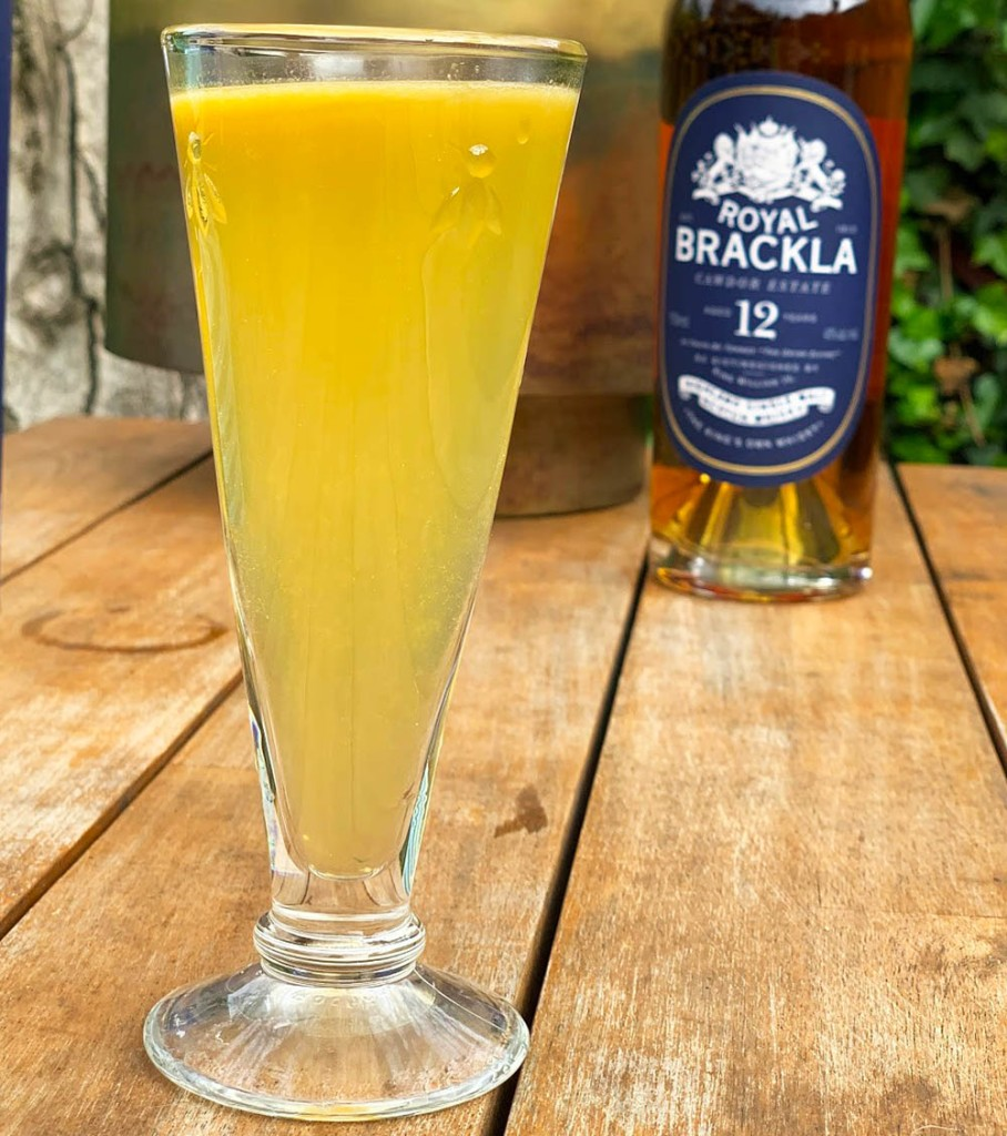 Inspired by House Baratheon, this cocktail pairs Royal Brackla 12 Year Old Scotch Whiskey with the richness of Fino sherry and a zip of passion fruit to create punch fit for a king.