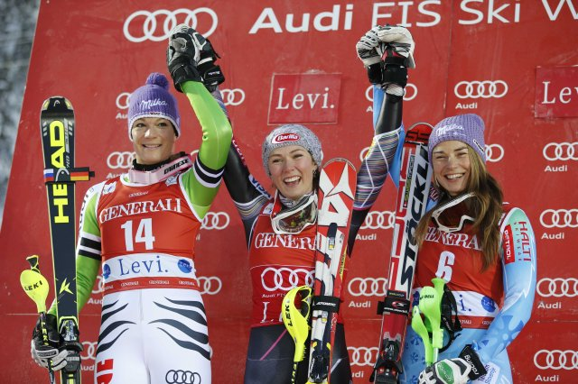 AP FINLAND ALPINE SKIING WORLD CUP S SKI OLY FIN
