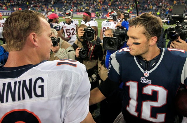 AP PICK 6 BRADY VS MANNING FOOTBALL S FILE FBN USA MA