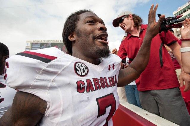 NCAA Football: South Carolina at Arkansas
