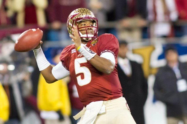 Florida State Seminoles quarterback Jameis Winston throws a pass against the Duke Blue Devils at Bank of America Stadium. (Jeremy Brevard - USA TODAY Sports)