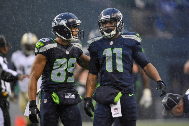 Percy Harvin's (11) return adds some big-play potential to a stagnant Seattle passing attack. Credit: Steven Bisig-USA TODAY Sports.