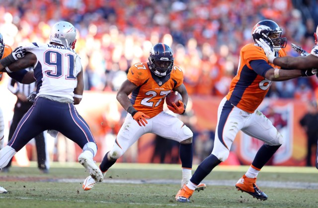 Broncos running back Knowshon Moreno has enjoyed big holes thanks to a strong offensive line and Peyton Manning's ability to read defenses. Credit: Mark J. Rebilas-USA TODAY Sports