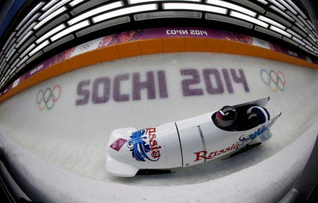 Russian two-man bobsled team. (REUTERS/Murad Sezer)