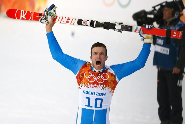 Christof Innerhofer took bronze in the men's super combined slalom. (Rob Schumacher, USA TODAY Sports)