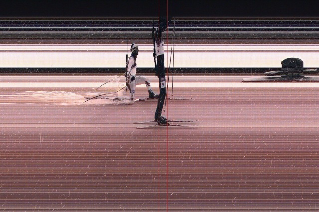 This handout image provided by Omega shows the photo finish between Emil Hegle Svendsen of Norway (R), who won the gold medal, and Martin Fourcade of France in the Men's 15 km Mass Start.