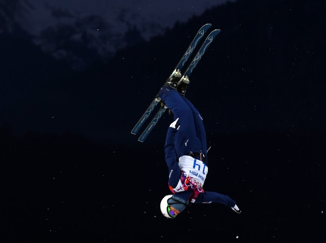 Mac Bohonnon (USA) competes in men's freestyle skiing aerials. (Guy Rhodes, USA TODAY Sports)