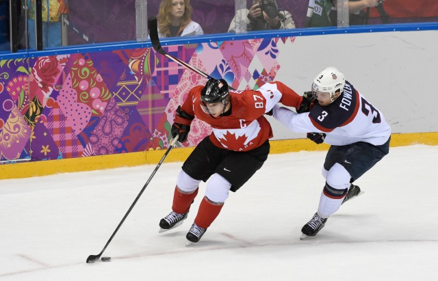 Sidney Crosby will try to lead Canada to its second gold medal in a row. (Richard Mackson, USA TODAY Sports)