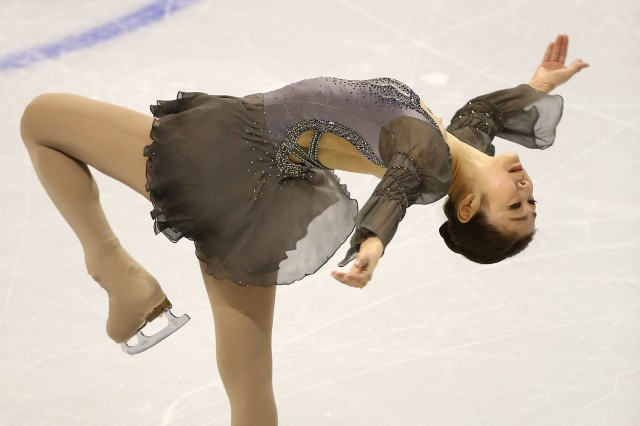 Yuna Kim (KOR) skates during the ladies free program at the World Figure Skating Championships at Budweiser Gardens. (Tom Szczerbowski-USA TODAY Sports)