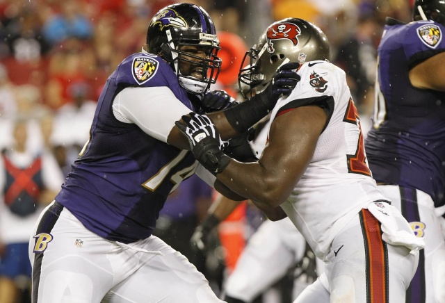 Michael Oher is set to test free agency after five years with the Baltimore Ravens. (Kim Klement - USA TODAY Sports)