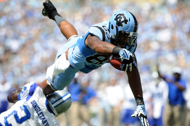 North Carolina's Eric Ebron is the top-rated tight end for May's NFL draft. (Liz Condo - USA TODAY Sports)