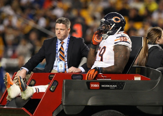 Henry Melton's injury was a devastating blow the Bears' defensive line. (Jason Bridge - USA TODAY Sports)