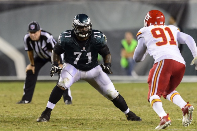 Philadelphia Eagles offensive tackle Jason Peters against the Kansas City Chiefs. (Howard Smith - USA TODAY Sports)