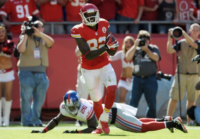 Dwayne Bowe tied for 105th in the NFL with 197 yards after catch. (Denny Medley-USA TODAY Sports)