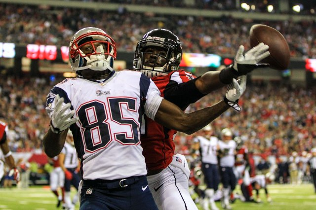 Kenbrell Thompkins and fellow rookie Aaron Dobson proved the Patriots need to add more firepower to their wide receiver corps. (Credit: Daniel Shirey - USA TODAY Sports)