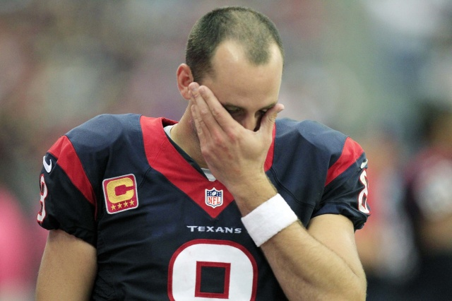 After seven productive seasons from Matt Schaub, the Houston Texans will restart at quarterback. (Thomas Campbell -  USA TODAY Sports)