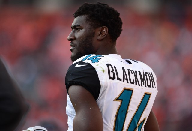 Justin Blackmon (Ron Chenoy-USA TODAY Sports)
