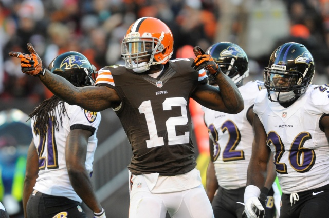 Josh Gordon led the NFL with 1,649 receiver yards. The Browns will search to find a bookend at wide receiver. (Ken Blaze - USA TODAY Sports)