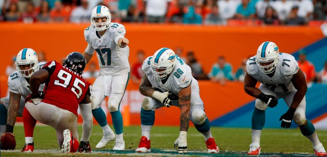 Due to the Dolphins' problems in the locker room, the team must rebuild the left side of its offensive line. (Credit: Robert Mayer - USA TODAY Sports)