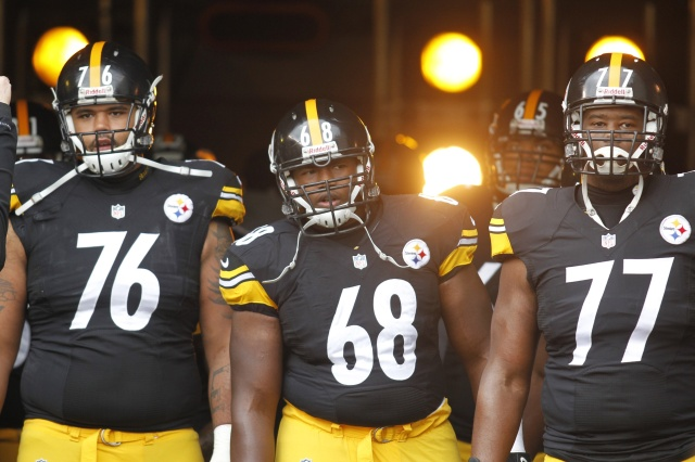 Mike Adams, Kelvin Beachum and Justin Gilbert all had to their opportunity to start at left tackle for the Steelers in 2013. (Charles LeClaire - USA TODAY Sports)