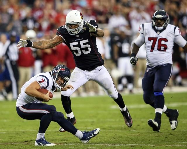 Arizona Cardinals linebacker John Abraham was a Pro Bowl player in 2013 at the age of 35. (Kevin Jairaj - USA TODAY Sports)