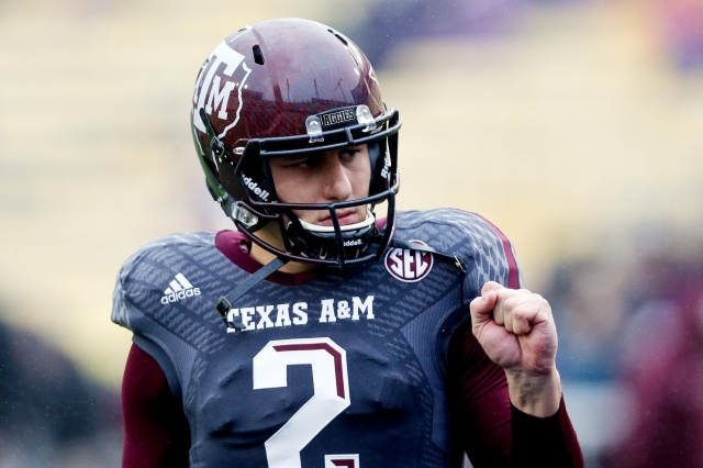 Texas A&M QB Johnny Manziel will attempt to change his narrative at the NFL combine. (Derick E. Hingle - USA TODAY Sports)
