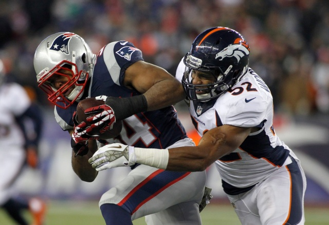 Despite being a team captain, Denver Broncos linebacker Wesley Woodyard was benched during the 2013 season and potentially replaced. (Stew Milne - USA TODAY Sports)