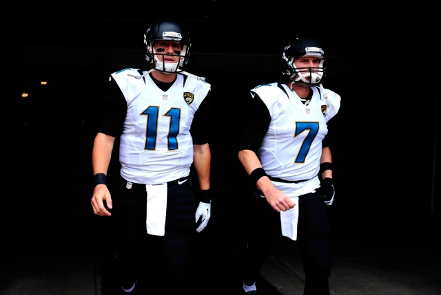 The Jacksonville Jaguars quarterbacks, Blaine Gabbert and Chad Henne, let much to be desired the past two seasons. (Andrew Weber-USA TODAY Sport)