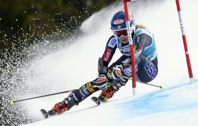 Mikaela Shiffrin during the women's giant slalom at the FIS alpine skiing World Cup at Beaver Creek Mountain. (Paul Bussi - USA TODAY Sports)