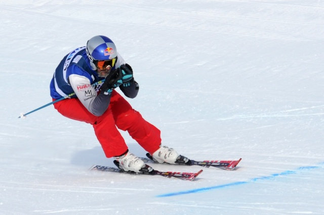 John Teller during qualifications at the FIS men's ski cross World Cup at Nakiska Mountain Resort. (Candice Ward-USA TODAY Sports)