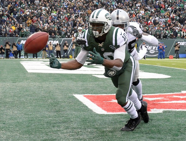 The Jets need a healthy Santonio Holmes and upgrades at wide receivers to improve their pass offense. (Robert Deutsch - USA TODAY Sports)