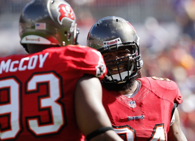 Defensive tackle Gerald McCoy led the Tampa Bay Buccaneers with nine sacks. He'll need help from his defensive ends in 2014. (Kim Klement - USA TODAY Sports)