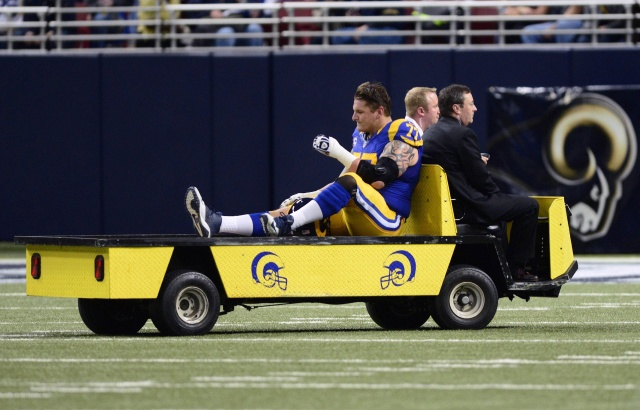 St. Louis Rams offensive tackle Jake Long hasn't played a full 16-game slate since 2010. (Jeff Curry-USA TODAY Sports)