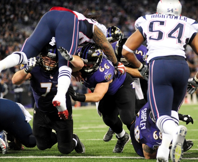 For the Baltimore Ravens to effectively run the football, the team's offensive interior needs upgraded. (Evan Habeeb - USA TODAY Sports)