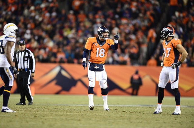 Decker's suitors will have to determine how big a part Manning played in the receiver's success. Credit: Ron Chenoy-USA TODAY Sports