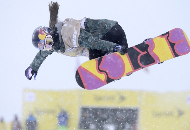 Arielle Gold of the United States during the women's halfpipe qualifying in the U.S. Grand Prix at Breckenridge Ski Resort. (Mark Leffingwell - USA TODAY Sports)