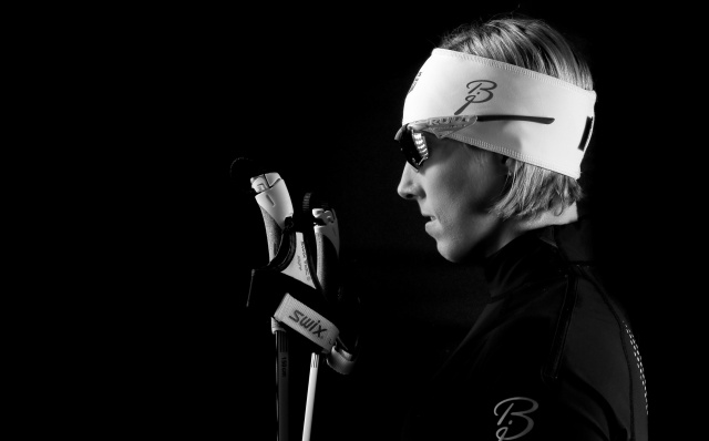 Team USA women's cross country skiing competitor Kikkan Randall during a portrait session at the Team USA Media Summit at Canyons Grand Summit Hotel. (Credit: Kevin Jairaj - USA TODAY Sports)