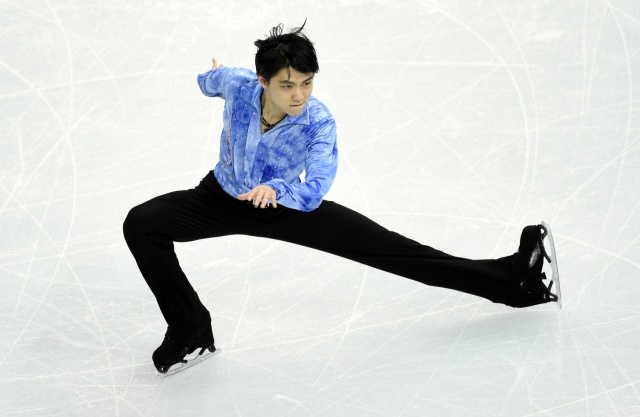 Japan's Yuzuru Hanyu in the team competition (USA TODAY Sports)