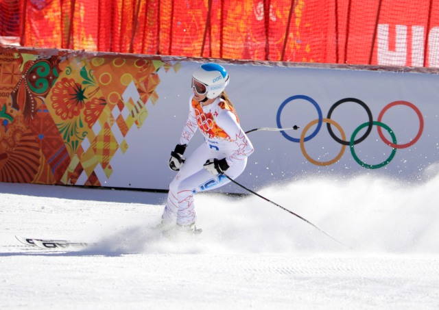 Julia Mancuso (USA) during ladies alpine training at the Sochi 2014 Olympic Winter Games at Rosa Khutor Alpine Center. Mandatory Credit: Andrew P. Scott-USA TODAY Sports