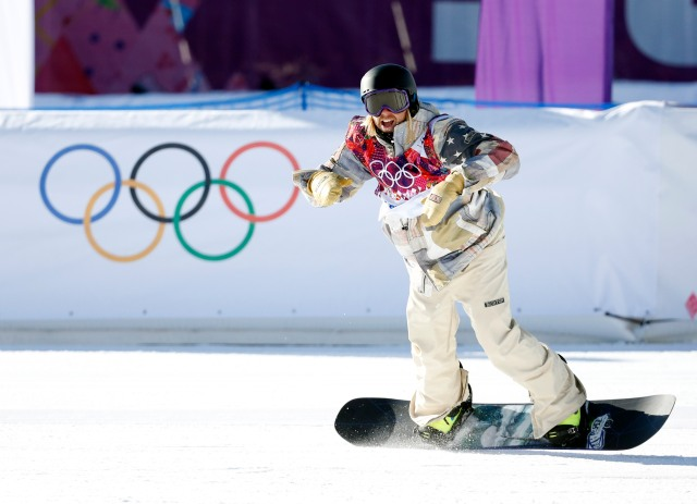 Sage Kotsenburg (USA) during men's slopestyle semifinals at the Sochi 2014 Olympic Winter Games at Rosa Khutor Extreme Park. Mandatory Credit: Kevin Jairaj-USA TODAY Sports
