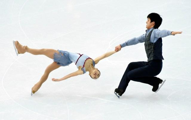 Olympics: Figure Skating-Team Pairs Free Skating