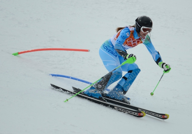 Tina Maze is one-half of Olympic trivia. (Jack Gruber-USA TODAY Sports)