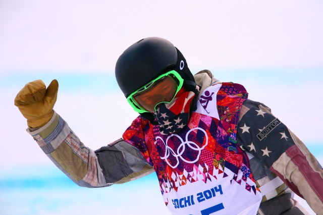 Shaun White competes during the men's halfpipe snowboarding qualification of the Sochi 2014 Olympic Winter Games at Rosa Khutor Extreme Park. (Guy Rhodes-USA TODAY Sports)