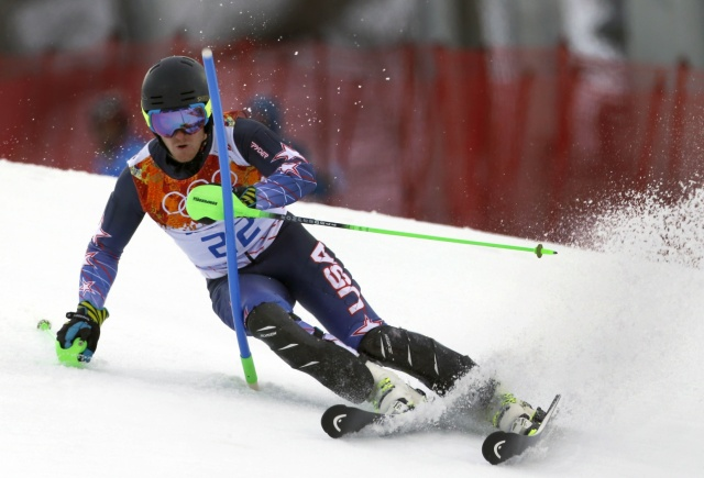 Ted Ligety competes in the men's super combined during the Sochi 2014 Olympic Winter Games at Rosa Khutor Alpine Center. (Nathan Bilow-USA TODAY Sports)