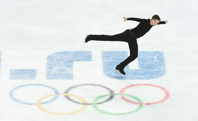 American Jeremy Abbott during the figure skating-men free skating during the Sochi 2014 Olympic Winter Games at Iceberg Skating Palace.  (Robert Hanashiro-USA TODAY Sports)