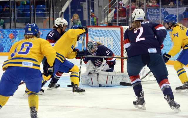 Here is photographic proof that Sweden did, in fact, take a shot on goal. (Jayne Kamin-Oncea, USA TODAY Sports)
