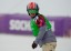 Trevor Jacob (USA) during the small final run of the men's snowboard cross finals.  ( John David Mercer-USA TODAY Sports)