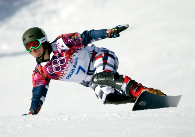 Vic Wild (RUS) competes in men's parallel giant slalom qualification during the Sochi 2014 Olympic Winter Games  (Andrew P. Scott-USA TODAY Sports)